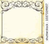 retro baroque decorations... | Shutterstock .eps vector #1037339857