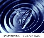 tron crypto currency symbol in... | Shutterstock . vector #1037344603