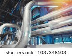 industrial zone  steel... | Shutterstock . vector #1037348503