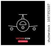 airplane vector icon...