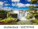 iguassu falls  the largest... | Shutterstock . vector #103737443