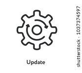 upgrade update refresh hog... | Shutterstock .eps vector #1037374597