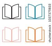 simple book icon vector symbol. ... | Shutterstock .eps vector #1037375833