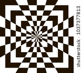 optical illusion  black and...   Shutterstock .eps vector #1037377813