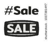 hashtag sale halftone label tag.... | Shutterstock .eps vector #1037381497