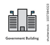 government federal building... | Shutterstock .eps vector #1037384323