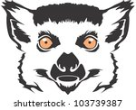 creative lemur illustration | Shutterstock .eps vector #103739387