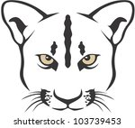 Creative Cougar Illustration - stock vector