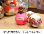 opened doll and pair of... | Shutterstock . vector #1037413783