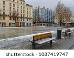 Small photo of LYON, FRANCE, March 1, 2018 : Place de la Republique, as a cold spell rages in all Europe and the Capital of Gallia is under the snow.