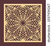 laser cutting panel. golden... | Shutterstock .eps vector #1037434267