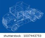 concept truck. vector rendering ... | Shutterstock .eps vector #1037443753