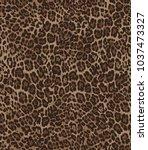 animal skin leopard pattern in... | Shutterstock .eps vector #1037473327