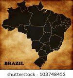 map of brazil | Shutterstock . vector #103748453