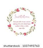 wedding  anniversary ... | Shutterstock .eps vector #1037493763