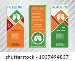 lung icon on vertical banner.... | Shutterstock .eps vector #1037494837