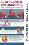 environmental contamination and ... | Shutterstock .eps vector #1037543173