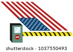 usa  united states puts toll... | Shutterstock . vector #1037550493