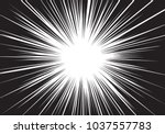 abstract black line radial zoom ... | Shutterstock .eps vector #1037557783