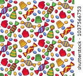 candy sweets bonbon colorful... | Shutterstock .eps vector #1037566753