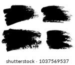 painted grunge stripes set.... | Shutterstock .eps vector #1037569537