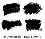 painted grunge stripes set.... | Shutterstock .eps vector #1037569543
