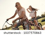 carefree couple. beautiful... | Shutterstock . vector #1037570863