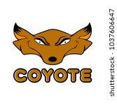 coyote art vector | Shutterstock .eps vector #1037606647