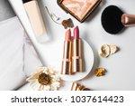 luxury beautiful flat lay... | Shutterstock . vector #1037614423