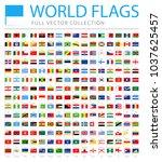 all world flags set   new... | Shutterstock .eps vector #1037625457