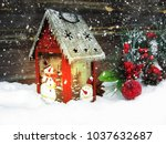 christmas lantern fruit berries ... | Shutterstock . vector #1037632687