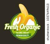 fresh organic food emblem image | Shutterstock .eps vector #1037649613