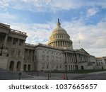 view of the us capitol building ... | Shutterstock . vector #1037665657