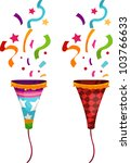 popper party | Shutterstock .eps vector #103766633
