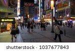 tokyo   japan   june 6  2017  ...   Shutterstock . vector #1037677843