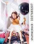 beautiful little girl...   Shutterstock . vector #1037683207