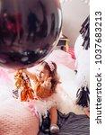 beautiful little girl...   Shutterstock . vector #1037683213