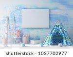 playning child roon  modern... | Shutterstock . vector #1037702977