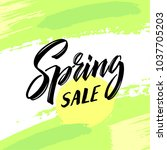spring sale. special offer... | Shutterstock .eps vector #1037705203