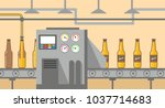 brewery factory production line ... | Shutterstock .eps vector #1037714683