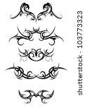 tribal tattoo set | Shutterstock .eps vector #103773323