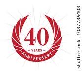 40 years anniversary. elegant... | Shutterstock .eps vector #1037736403