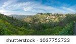 scenic view of ein karem   an...   Shutterstock . vector #1037752723