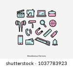 miscellaneous flat line icon... | Shutterstock .eps vector #1037783923