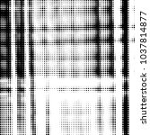grunge halftone black and white ... | Shutterstock . vector #1037814877