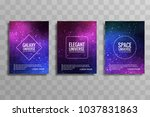 modern galaxy stylie business... | Shutterstock .eps vector #1037831863