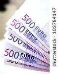 500 Euro Money Banknotes