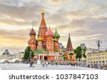 moscow russia red square view... | Shutterstock . vector #1037847103