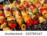 Bar B Q Or Bbq With Kebab...