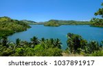 seascape of coron island ...   Shutterstock . vector #1037891917